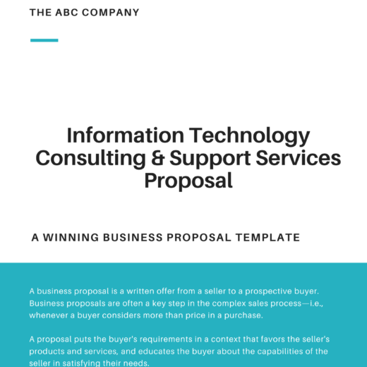 Information Technology Consulting & Support Services Proposal Template